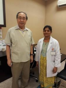 DR.VIJAYALAKSHMI WITH DR.GOH, NATIONAL SKIN CENTER, SINGAPORE d