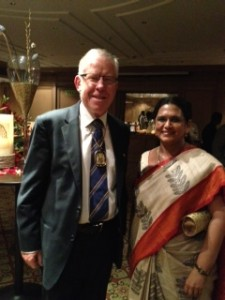 With the President of The Royal College of Physicians,  Glascow