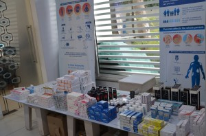 Free medications distributed to patients