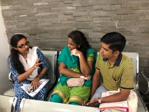 Patients being counselled   WORLD VITILIGO DAY, JUNE 2018